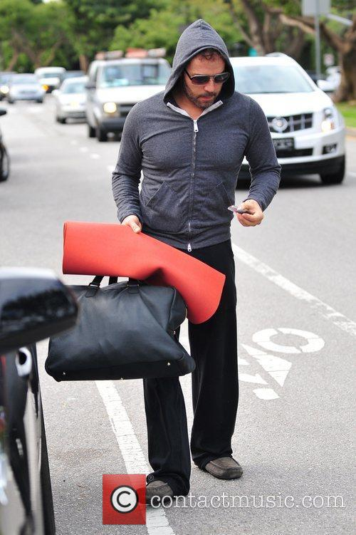Jeremy Piven is seen after his yoga workout...