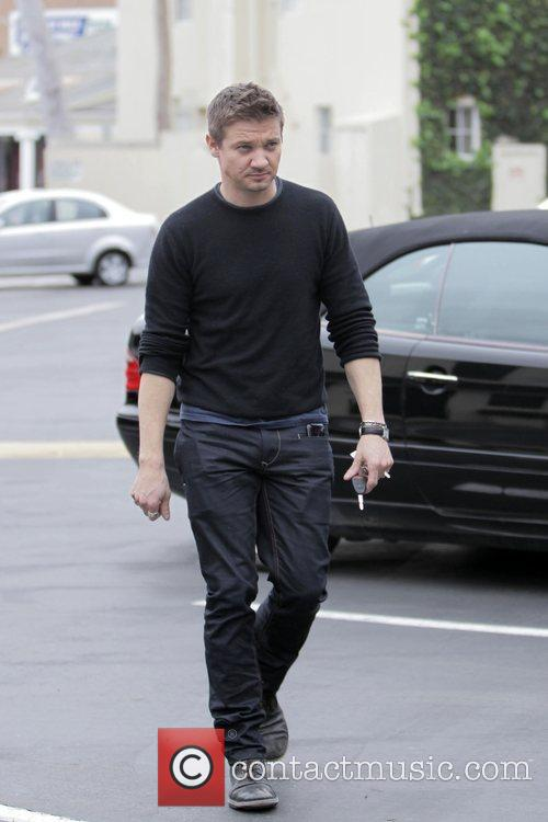 Jeremy Renner  seen leaving Cafe Med after...