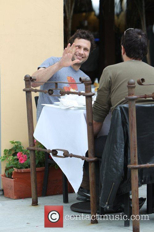 Jeremy Sisto having lunch with a friend at...