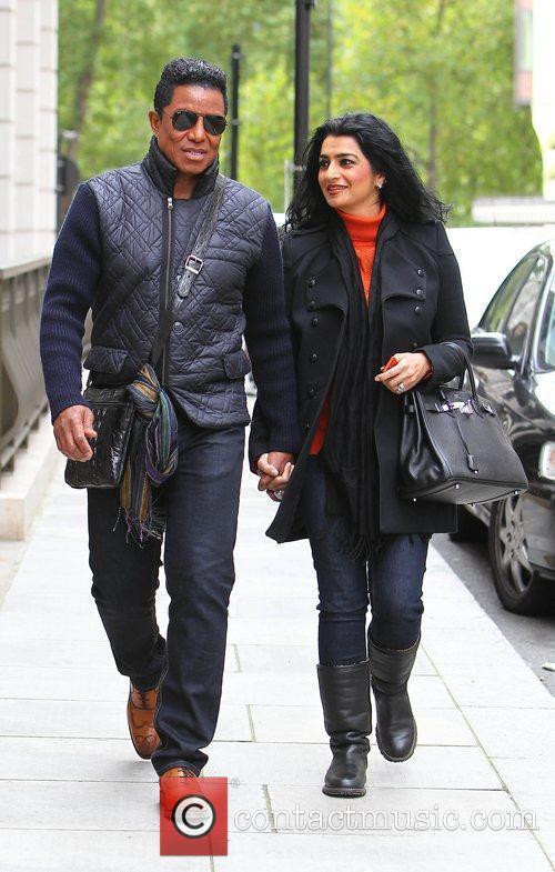 Jermaine Jackson and wife Halima Rashid leaving their...