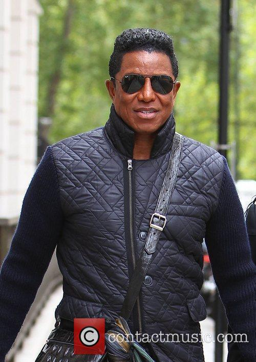 Jermaine Jackson  leaving his hotel and walking...