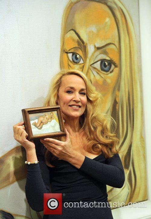 Jerry Hall Artwork Collection - photocall held at...