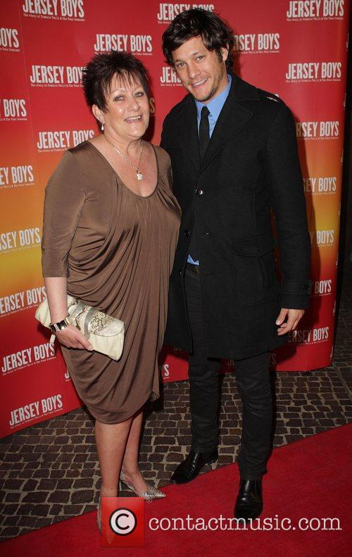 Rob Mills and his mother The opening night...