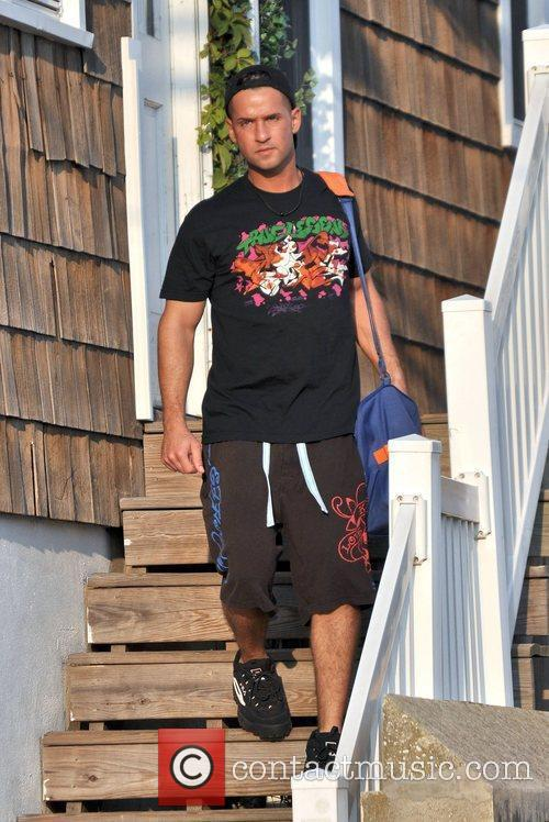 Mike Sorrentino aka The Situation leaves the Shore...
