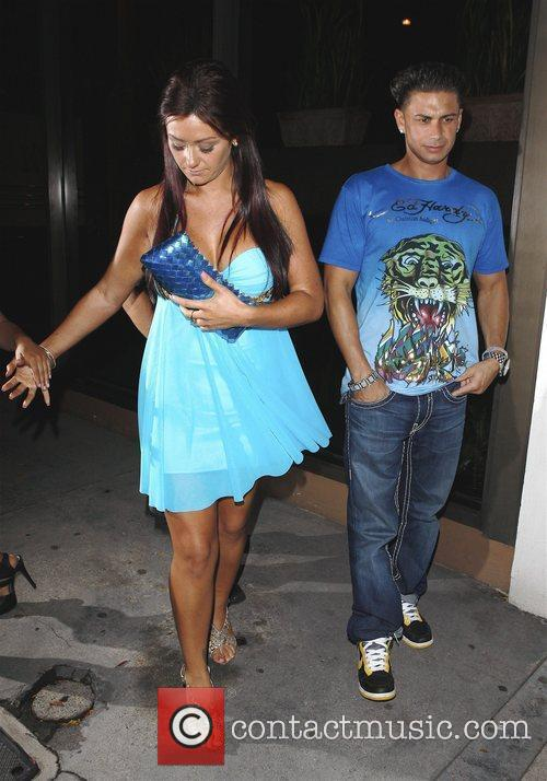 The 'Jersey Shore' cast leave Madeo's restaurant