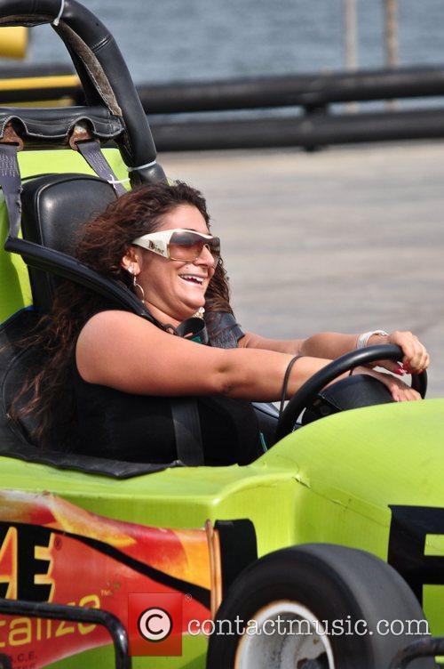 Deena Nicole Cortese seen at Casino Pier on...