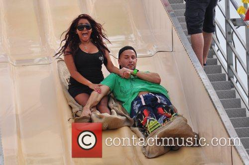 Mike The Situation Sorrentino, Nicole Polizzi seen at...