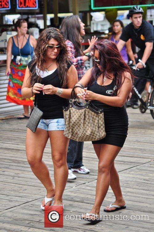 Nicole Snooki Polizzi, Deena Nicole Cortese seen at...