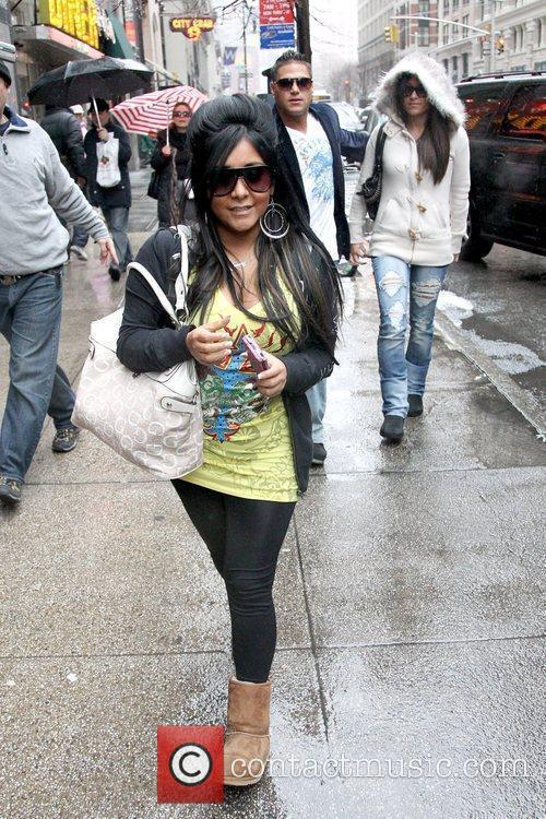 Cast members of 'Jersey Shore' arriving at Sushi...
