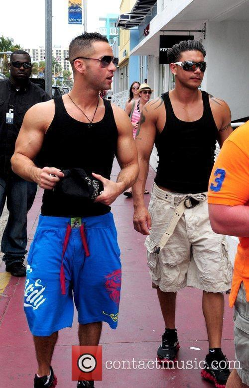 Reality stars Michael 'the Situation' Sorrentino and Paul...