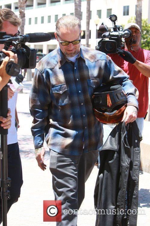 Jesse James outside the Orange County Superior Court...
