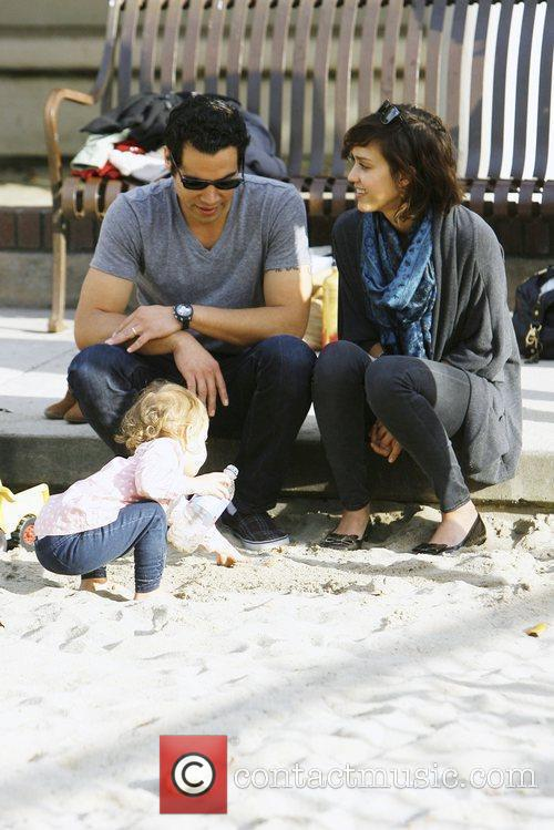 Jessica Alba with her husband Michael Warren and...