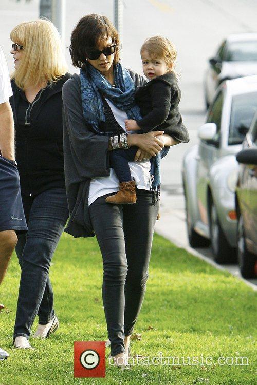 Jessica Alba with her daughter Honor Marie Warren...