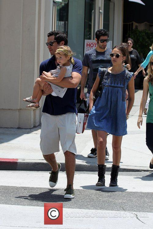 Jessica Alba, Cash Warren and Honor Marie Warren 6