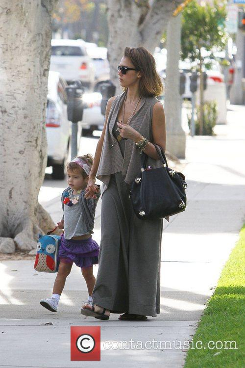 Jessica Alba and Honor Marie out and about...