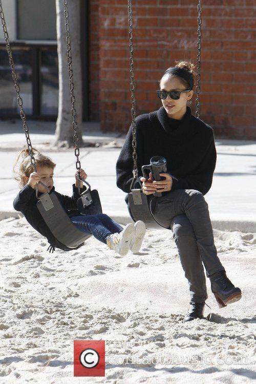 Jessica Alba takes her daughter Honor Marie Coldwater...