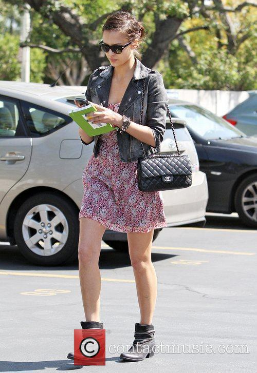 Jessica Alba was spotted shopping in Beverly Hills