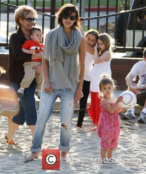 Jessica Alba with her husband Cash Warren and...