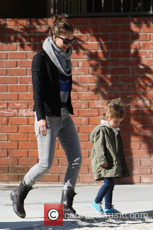 Jessica Alba and Honor Marie enjoy a family...