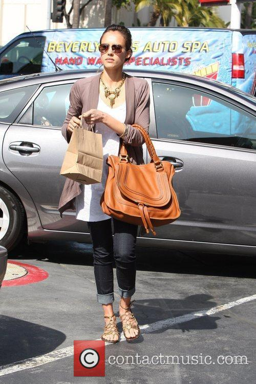 Jessica Alba takes her car to a Beverly...