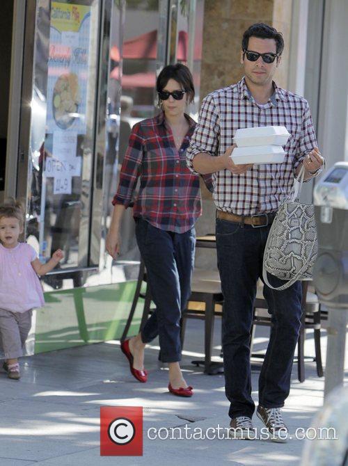 Actress Jessica Alba with her husband Cash Warren...