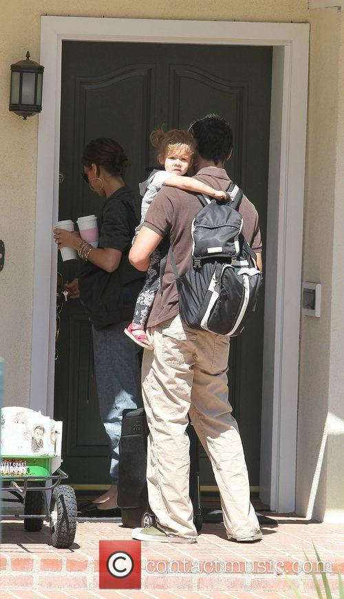 Jessica Alba, Cash Warren and Honor Marie Warren Prepare To Leave The Family Home In Westwood 3