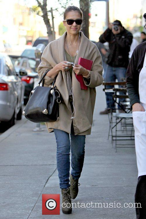 Jessica Alba arriving at Joan's on Third in...