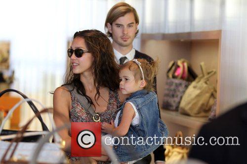 Seen shopping with her daughter Honor Marie Warren...