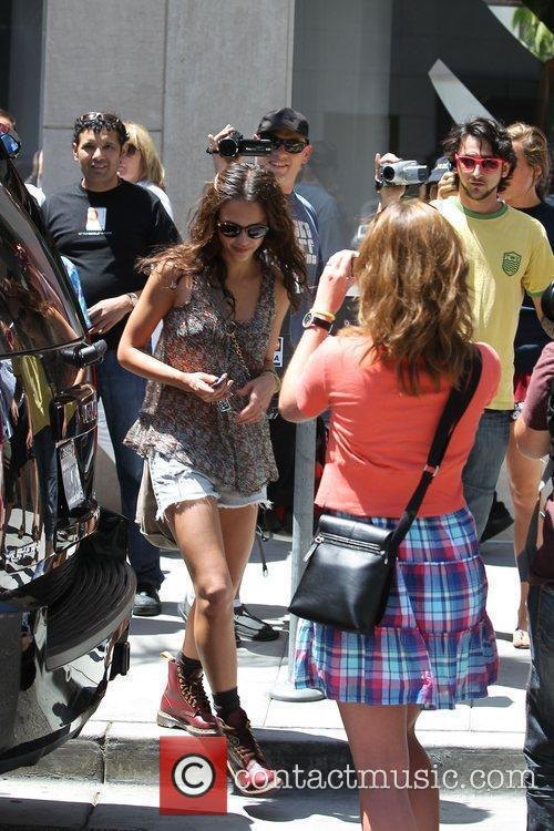 Jessica Alba seen shopping with her daughter at...
