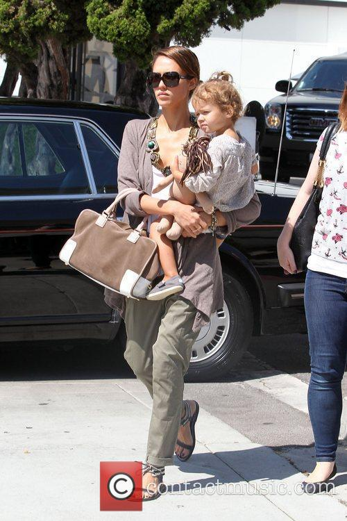 Jessica Alba and Her Daughter Honor Marie Warren Go Shopping In Beverly Hills 7