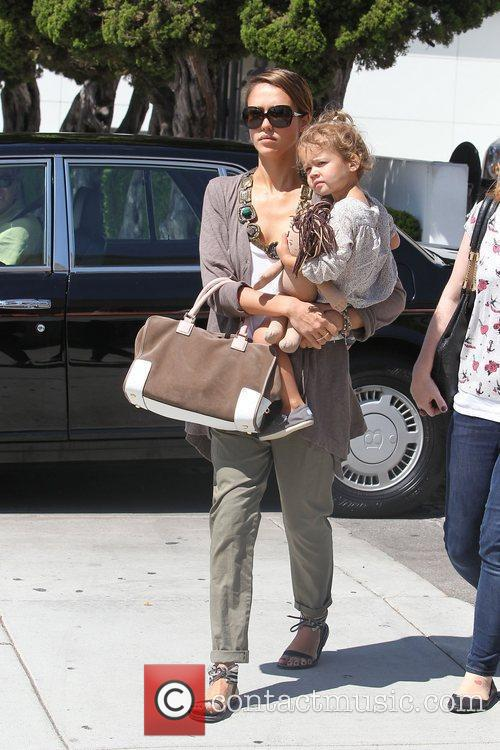 Jessica Alba and her daughter Honor Marie Warren go shopping in Beverly Hills 17