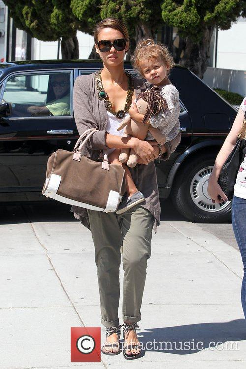 Jessica Alba and Her Daughter Honor Marie Warren Go Shopping In Beverly Hills 5