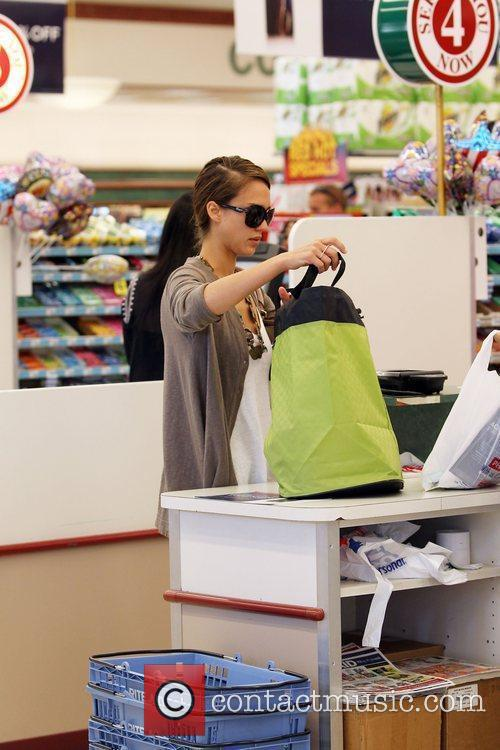 Jessica Alba and Her Daughter Go Shopping At Rite Aid In Beverly Hills 9