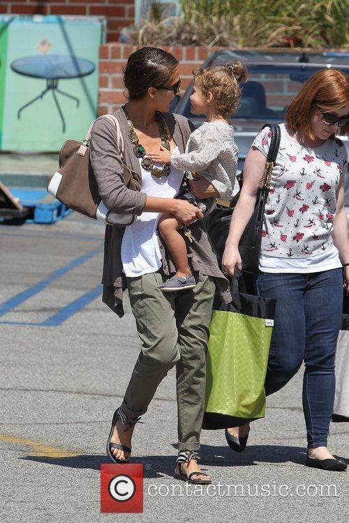 Jessica Alba, her daughter Honor Marie Warren go shopping at Rite Aid in Beverly Hills
