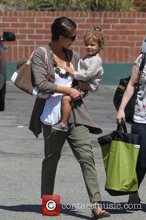 Jessica Alba and her daughter Honor Marie Warren go shopping at Rite Aid in Beverly Hills 9