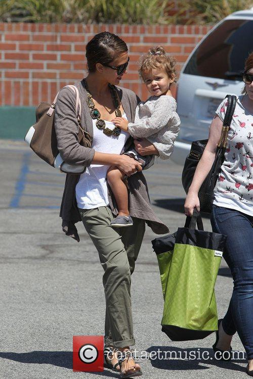 Jessica Alba and her daughter Honor Marie Warren go shopping at Rite Aid in Beverly Hills 1