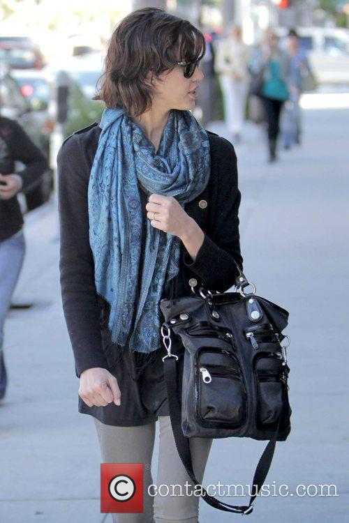 Shopping at various stores in Beverly Hills wearing...