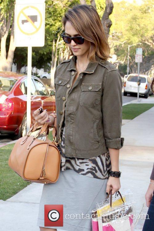 Leaving Bel Bambini in West Hollywood after shopping...