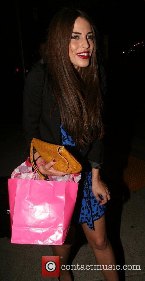 Jessica Lowndes leaving Red O restaurant after celebrating...