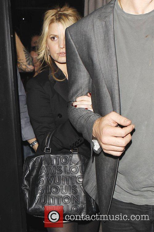 Jessica Simpson  leaving Trousdale nightclub in West...