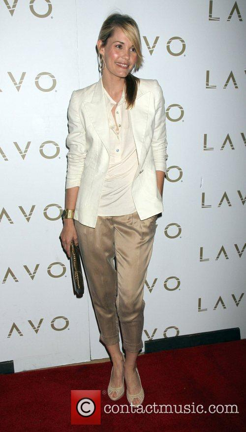 Leslie Bibb  arrives at Lavo nightclub at...