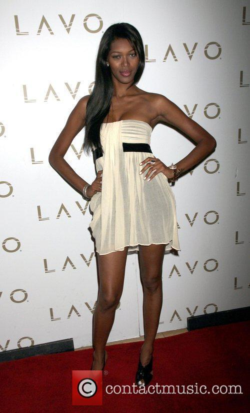 Arrives at Lavo nightclub at the Palazzo Hotel...
