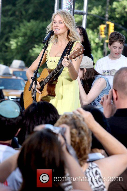 Jewel performing live on CBS' 'Early Show' as...