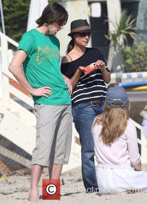 Jim Carrey with daughter Jane Carrey on Malibu...