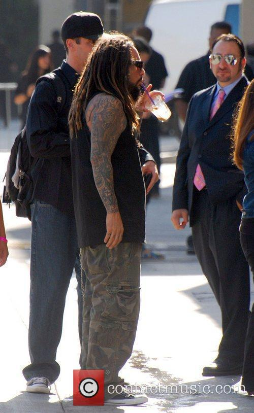 Arrives for an appearance on 'Jimmy Kimmel Live!'