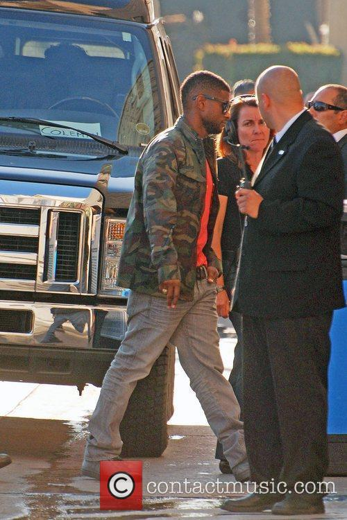 Usher Raymond and Jimmy Kimmel 2