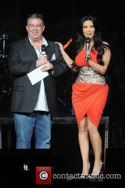 Kim Kardashian appears at the Y100 Jingle Ball...