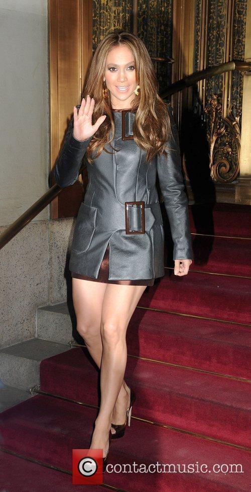Leaving her midtown hotel