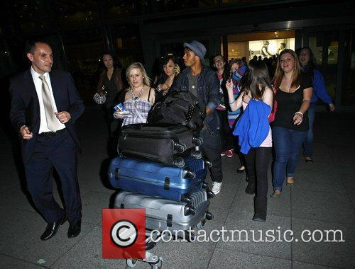 Aston Merrygold JLS are mobbed by fans as...