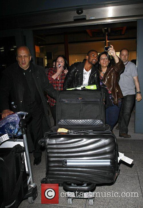 Jonathan 'JB' Gill JLS are mobbed by fans...